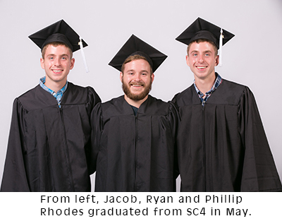 Jacob, Ryan and Phillip Rhodes brothers