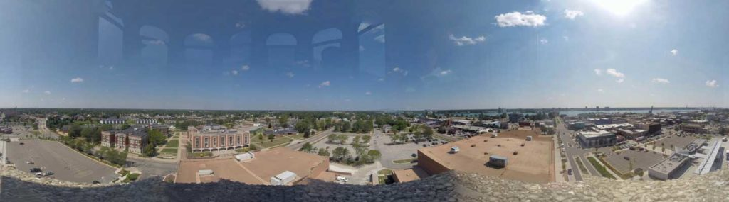 Panoramic view of downtown Port Huron from the top of the SC4 Tower.