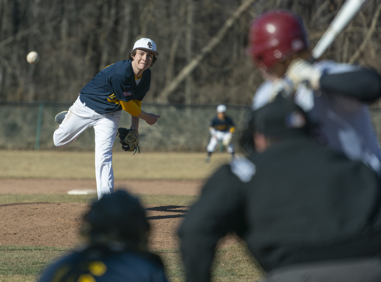 Pitcher pitches the ball