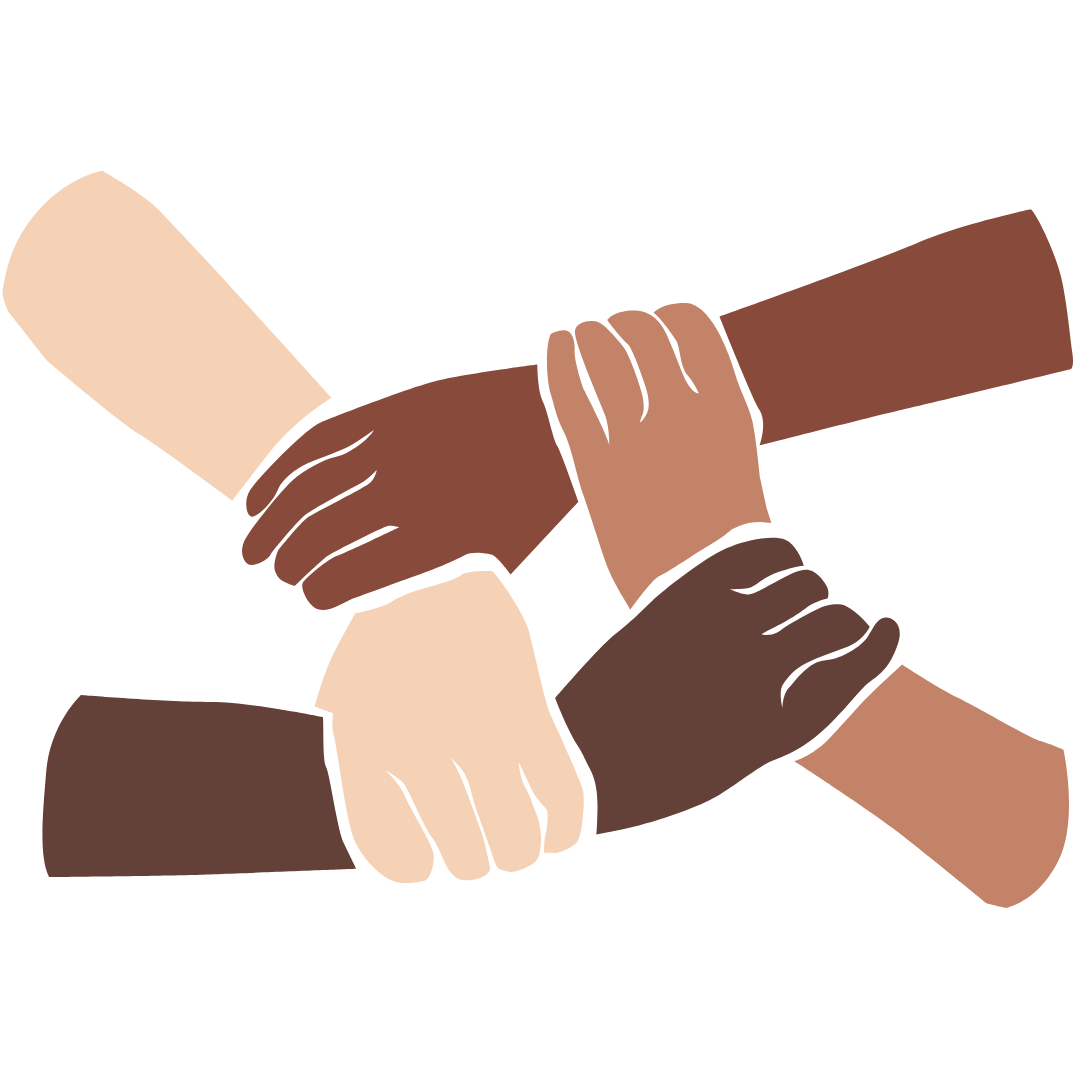 Icon of diversity hands