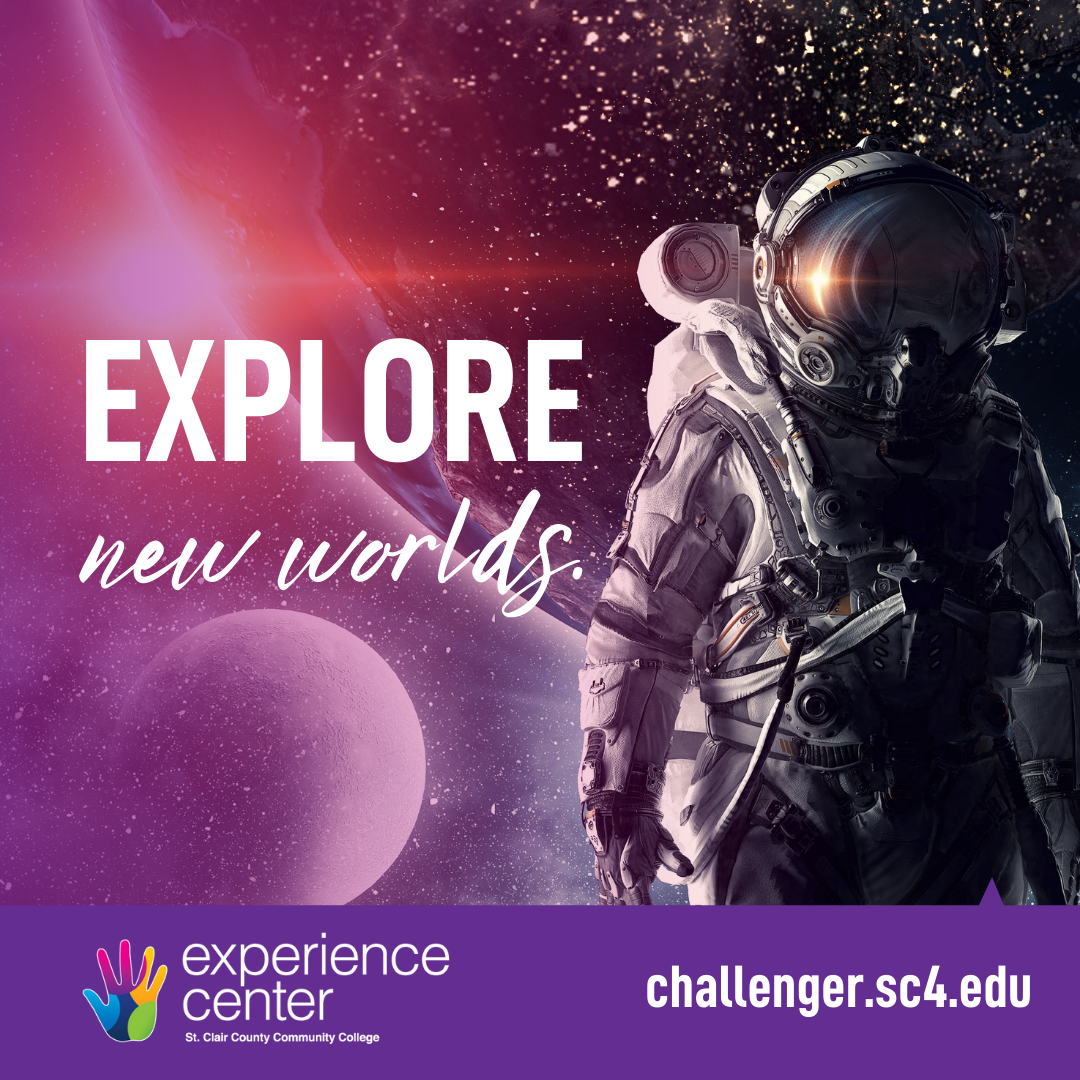 Challenger logo with astronaut